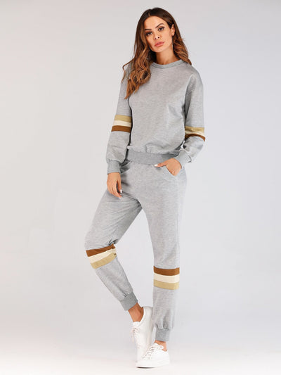 Tape Panel Sweatshirt With Pants