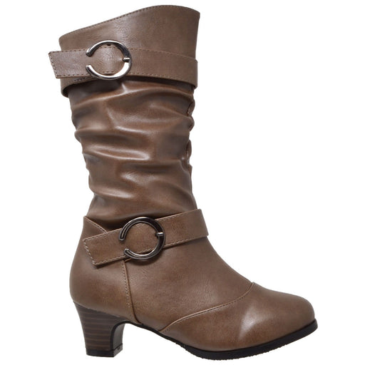 Toddler & Youth Slouch Heeled Mid Calf Boot - Alluforu