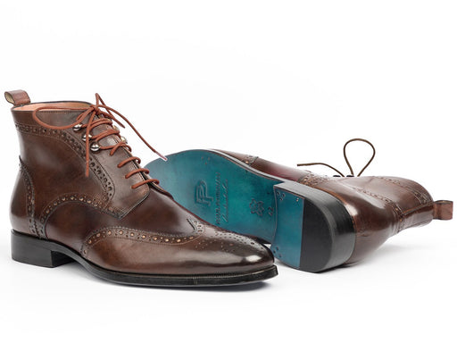 Paul Parkman Wingtip Ankle Boots Brown (ID#CH777BRW) - Alluforu