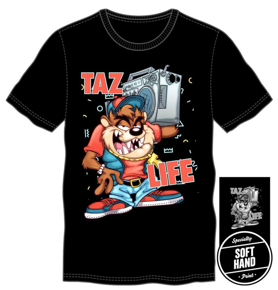 Looney Tunes Tazmanian Devil Taz Life Men's Black T-Shirt - Alluforu