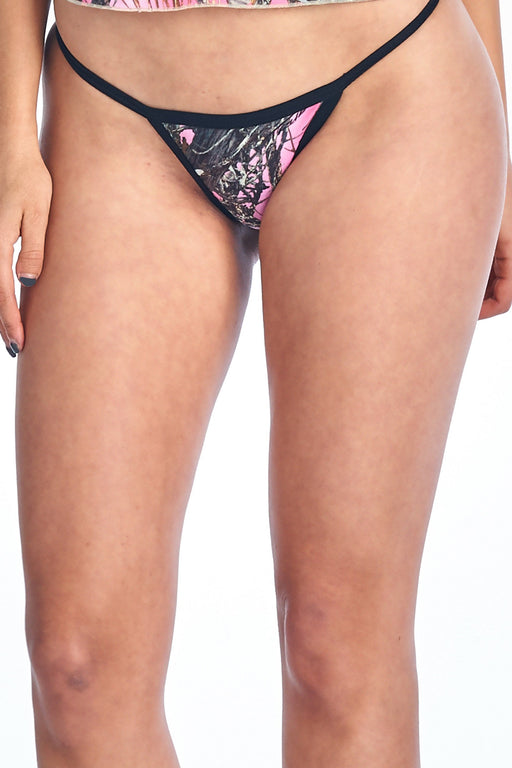 Women's Authentic True Timber Orange Thong Sexy Camo Lingerie Panties - Alluforu