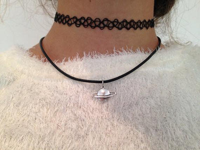 Saturn Vegan Leather Choker