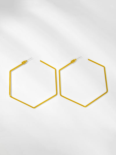 Open Geometric Shaped Hoop Earrings