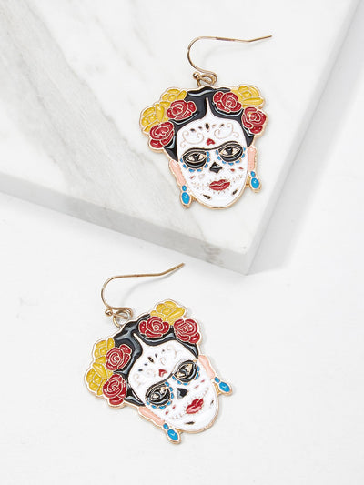 Figure Shaped Drop Earrings