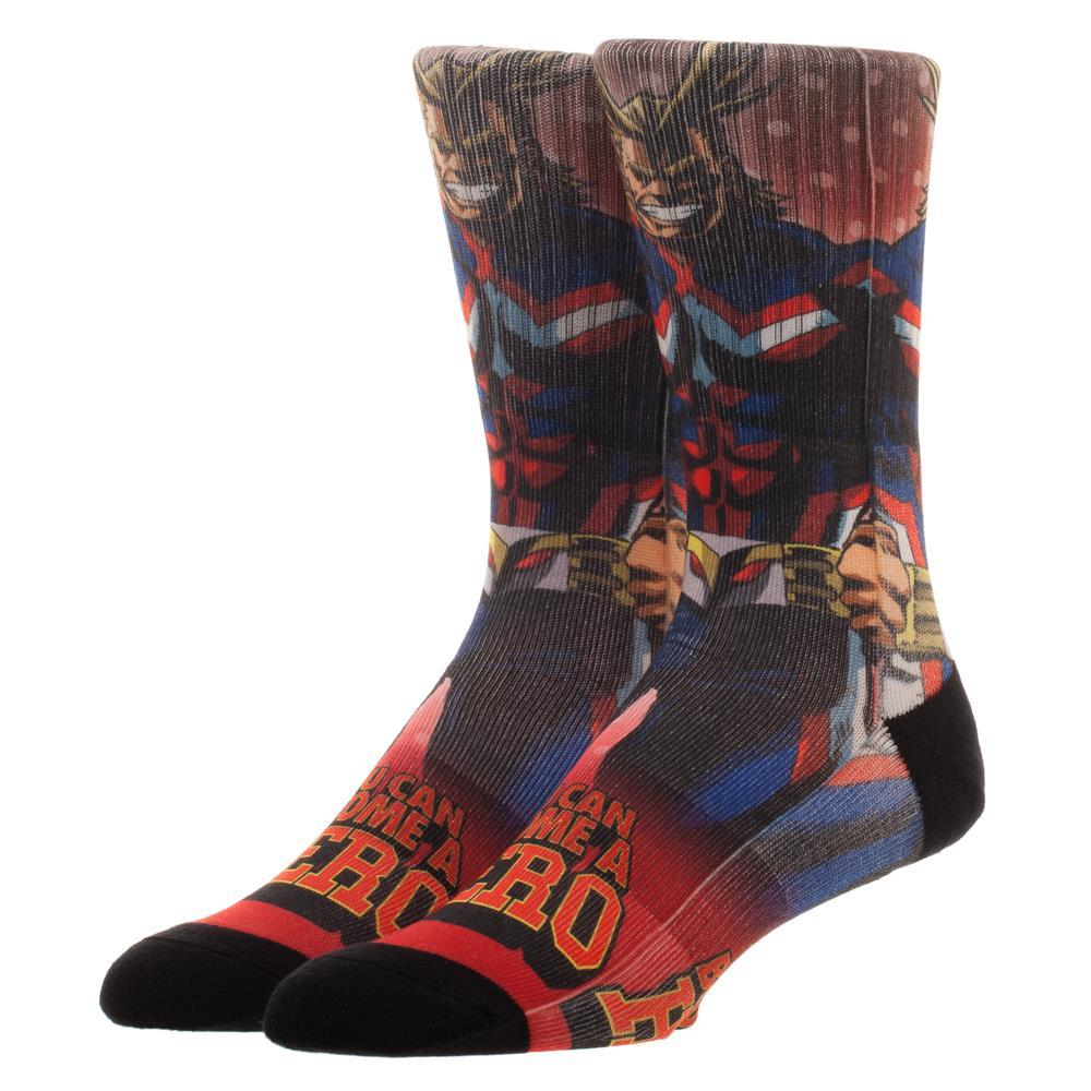 My Hero Academia Sublimated Crew Socks - Alluforu