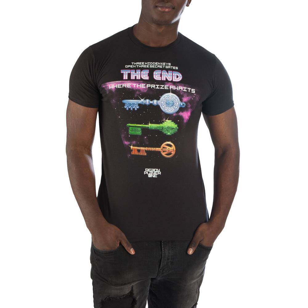 Ready Player One Storyline with Keys T-Shirt - Alluforu