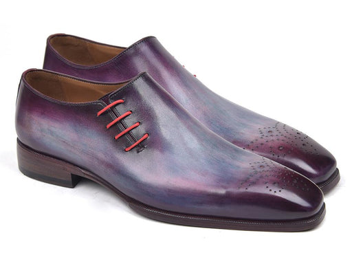 Paul Parkman Side Lace Oxfords Purple (ID#901F89) - Alluforu