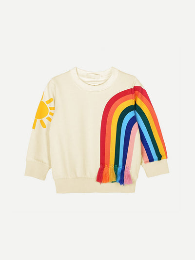 Toddler Girls Rainbow Print Sweatshirt