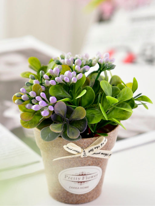 Artificial Flower With Plastic Pot - Alluforu