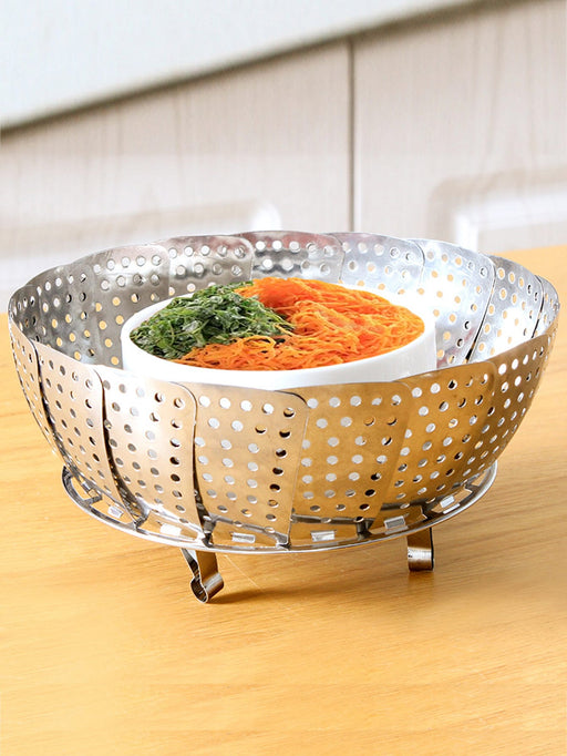 Multifunction Retractable Steamer Tray Rack