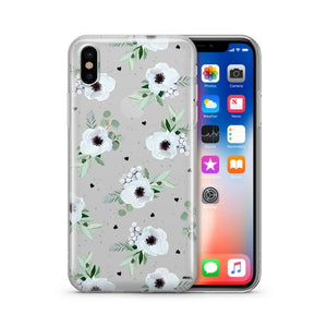White Blossom - Clear Case Cover