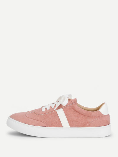 Lace Up Low Top Sneakers - Alluforu