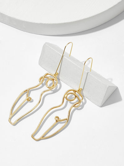 Hollow Body Design Drop Earrings