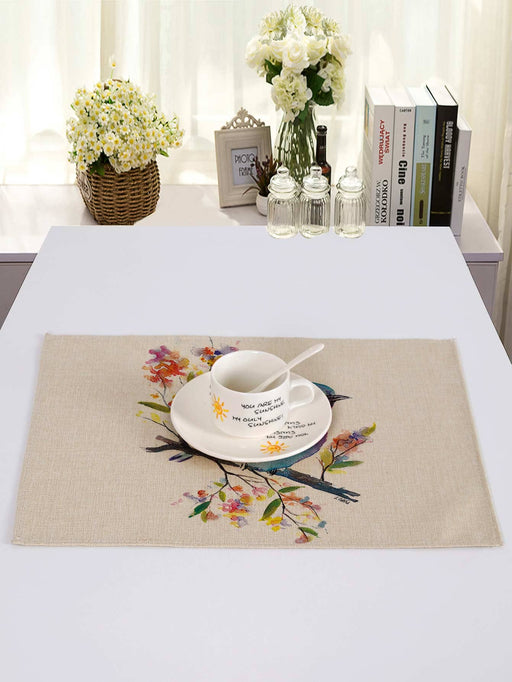 Watercolor Bird Print Placemat