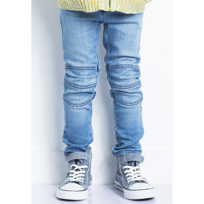 Biker Jeans Light Wash - Alluforu