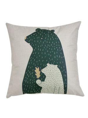 Bear Print Cushion Cover