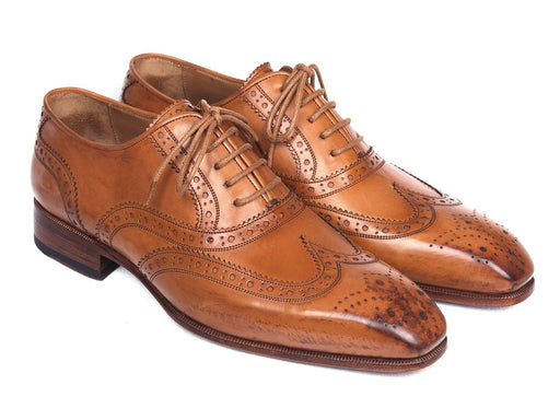 Paul Parkman Wingtip Oxfords Cognac (ID#5447-CGN) - Alluforu