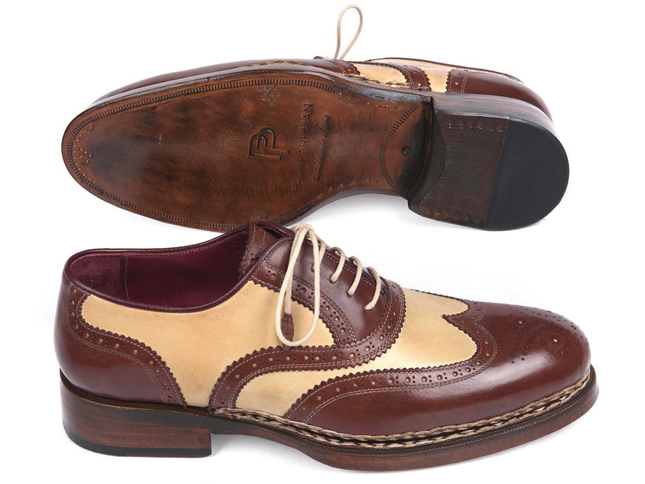 Paul Parkman Triple Leather Sole Goodyear Welted Wingtip Brogues (ID#095BEJ) - Alluforu