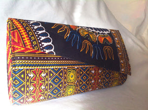 Ankara Print Crossbody Clutch Leftview