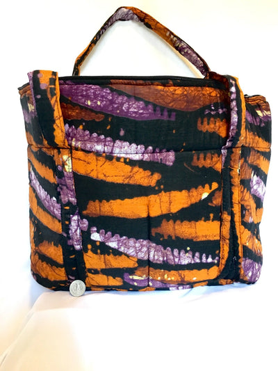 Orange Tie Dye Shoulder Bag - Alluforu