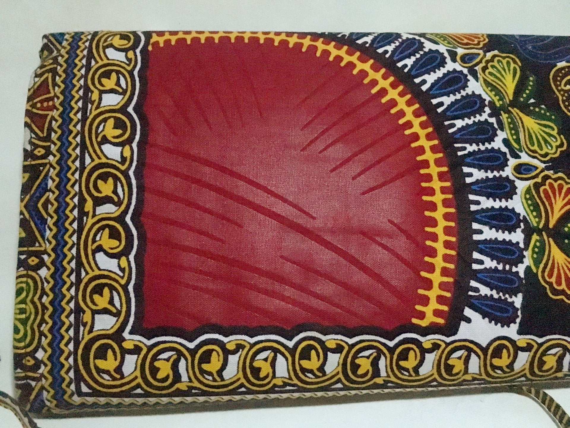 Ankara Print Crossbody Clutch Backview