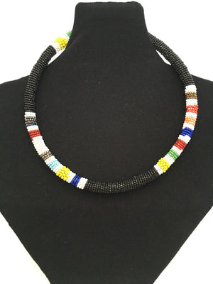 Zulu Seed Beaded Necklace (2 Styles Available) - Alluforu