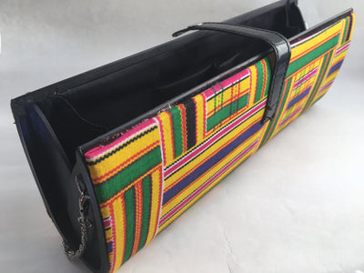 African Print Barrel Handbag with Detachable Shoulder strap - Alluforu