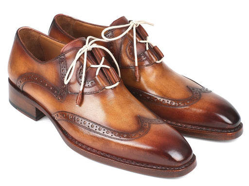 Paul Parkman Goodyear Welted Ghillie Lacing Wingtip Brogues (ID#2955-CML) - Alluforu