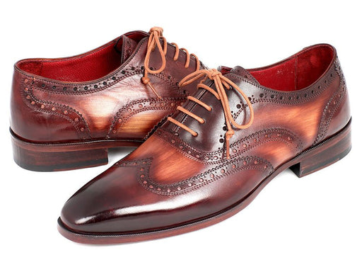 Paul Parkman Men's Two Tone Wingtip Oxfords (ID#PP22TX54) - Alluforu