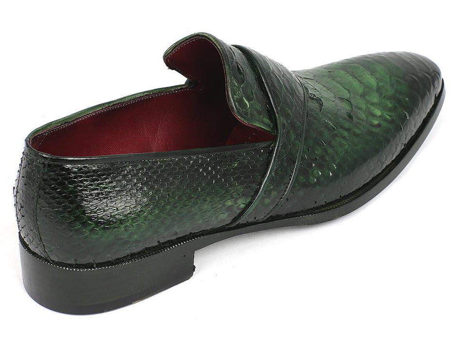 Paul Parkman Genuine Python Loafers Green (ID#11GRN95) - Alluforu