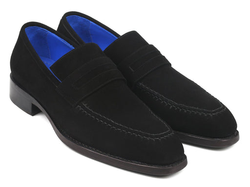 Paul Parkman Black Suede Goodyear Welted Loafers (ID#38AX95) - Alluforu