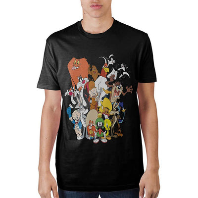 Looney Tunes Group Black T-Shirt - Alluforu