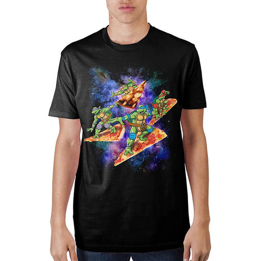 Teenage Mutant Ninja Turtles Pizza Surfing In Space T-Shirt - Alluforu
