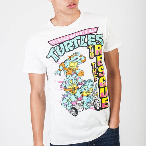 Teenage Mutant Ninja Turtles To The Rescue White T-Shirt - Alluforu