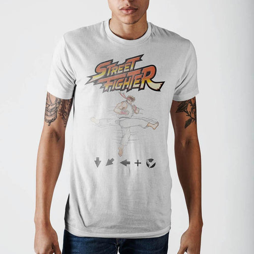 Street Fighter Ryu Kick T-Shirt - Alluforu