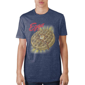 Kellog's Eggo With Glow Navy Heather T-Shirt - Alluforu