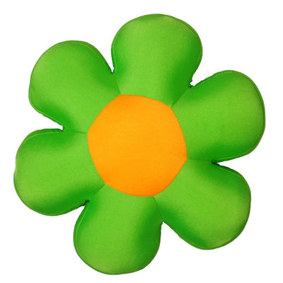 "Fun Cute All Year Round Super Squishy & Soft Flower Decorative Throw Micro-Bead Cushion Pillow - Green - 18"" - Alluforu"