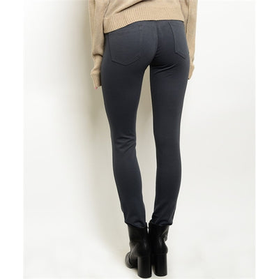Women's Skinny Pants - Dark Grey - Alluforu