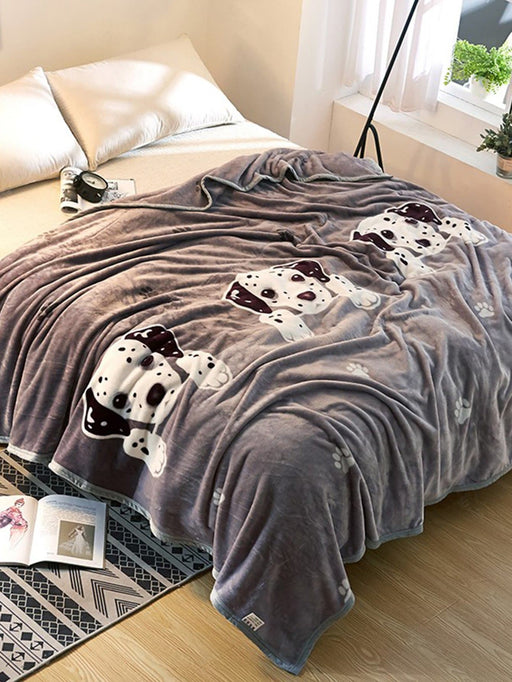 Dog Print Blanket 1PC - Alluforu
