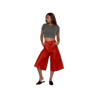 MARLI LEATHER CULOTTES - Alluforu