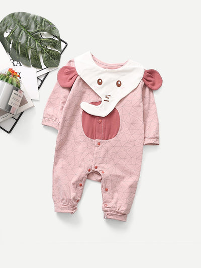 Baby Elephant Pattern Jumpsuit