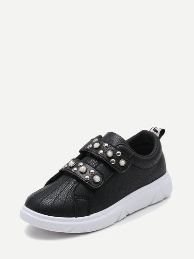 Toddlers Faux Pearl Decorated Sneakers