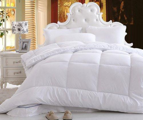 Solid White Alternative Down Comforter Duvet Insert Filler - Twin (QF098765)
