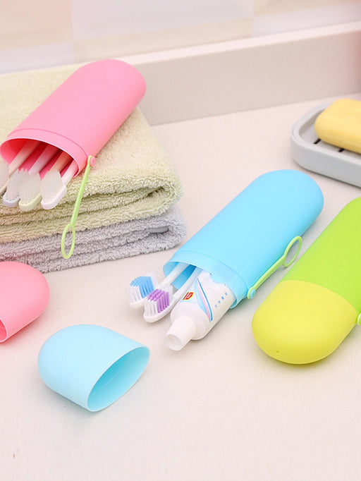 Random Color Toothbrush Storage Box 1pc - Alluforu