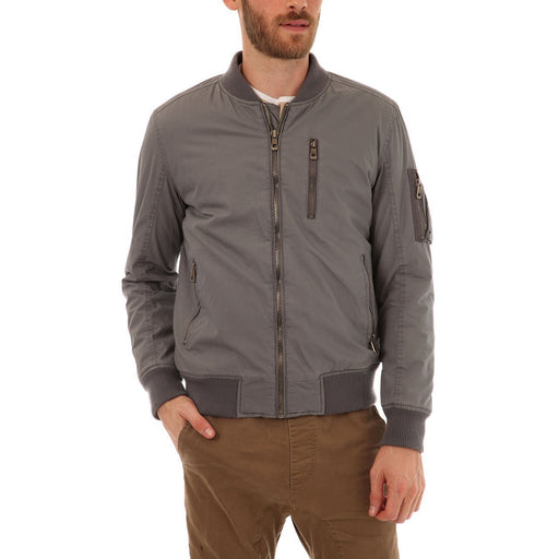 Alec Bomber Jacket With Sherpa Lining - Alluforu