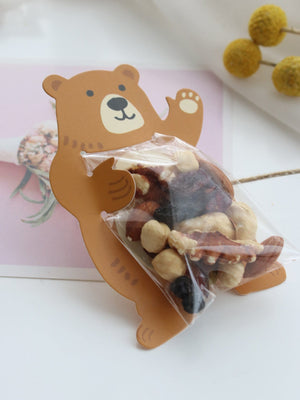 Bear Card With Clear Packaging Bag 10pcs