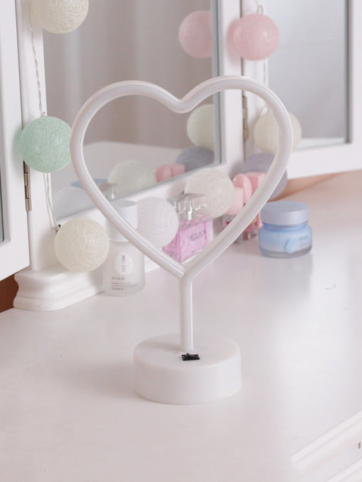 Neon Heart Shaped Table Lamp