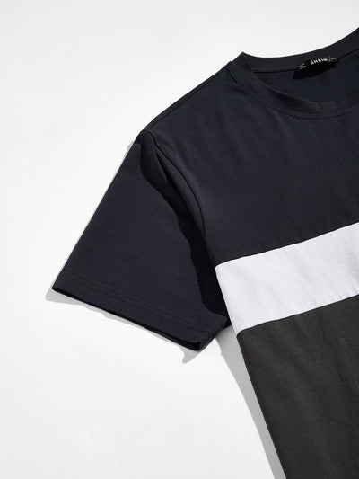 Men Cut and Sew T-shirt