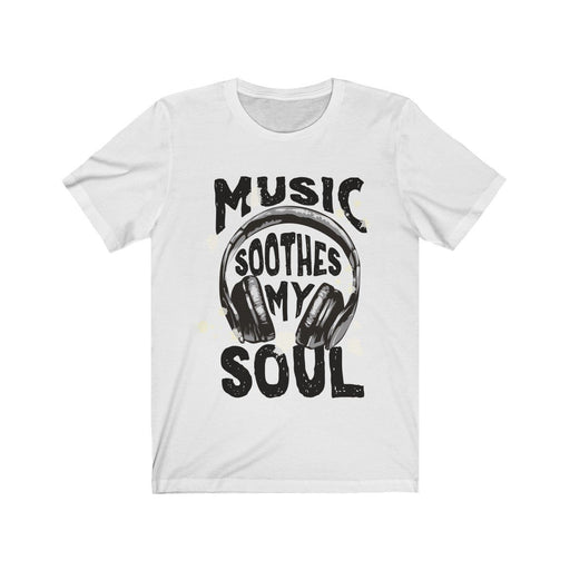 Music Soothes My Soul Headphone Short Sleeve Tee - Alluforu