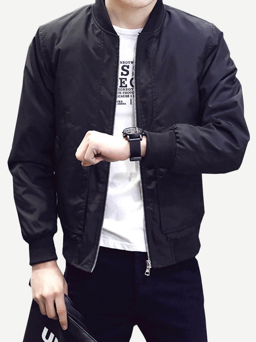 Men Solid Jacket